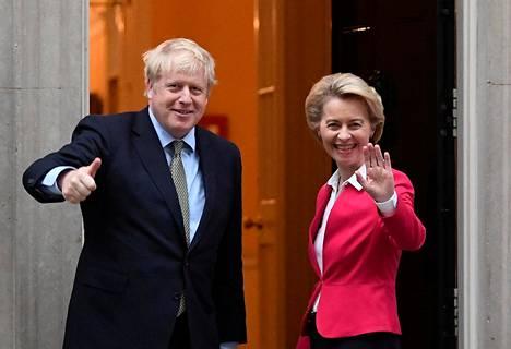 EU-komission puheenjohtaja Ursula von der Leyen kävi Lontoossa pääministeri Boris Johnsonin vieraana tammikuun 8. päivänä. Silloin oli jo selvää, että brexit toteutuu tammikuun lopussa.