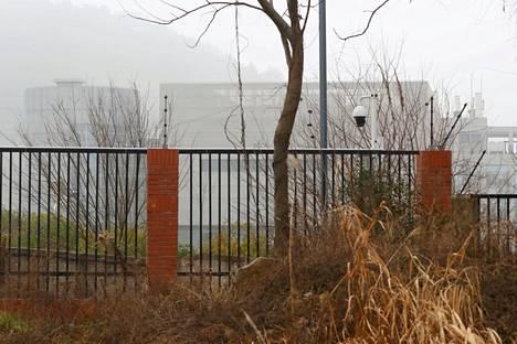 Wuhanin viruslaboratorio viime helmikuussa WHO:n tutkimusryhmän vierailun aikaan.