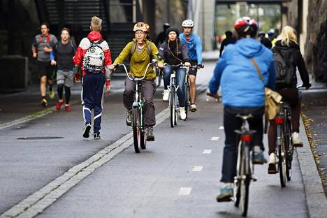 Pyöräilijöitä Baanalla vuosi sitten syyskuussa.
