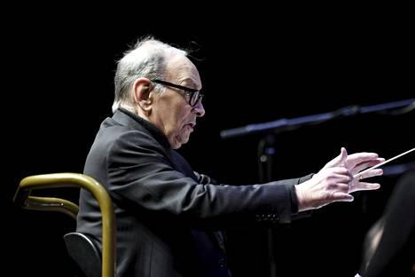 Ennio Morricone konsertoi keskiviikkona Helsingissä.