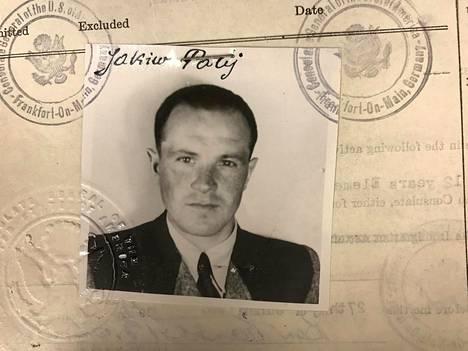 Jakiw Palij'n viisumi vuodelta 1949.