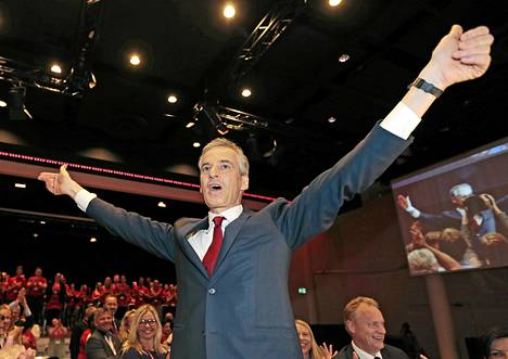 Jonas Gahr Støre valittiin Norjan työväenpuolueen uudeksi puheenjohtajaksi lauantaina.