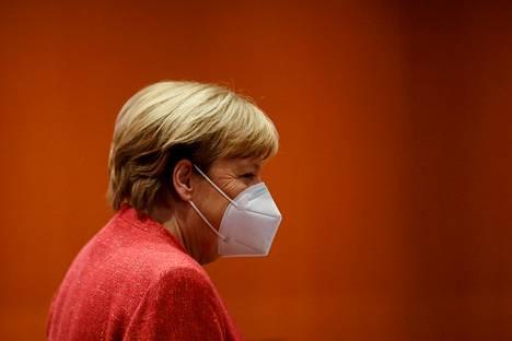 Liittokansleri Angela Merkel kuvattuna marraskuussa.