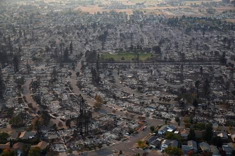 Santa Rosan tuhoja kuvattuna 11.10. 2017