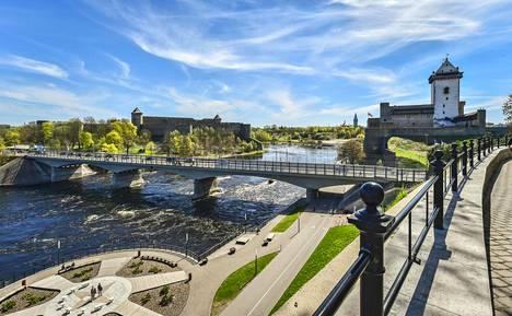 Näkymä Venäjälle on Narvan päänähtävyys.