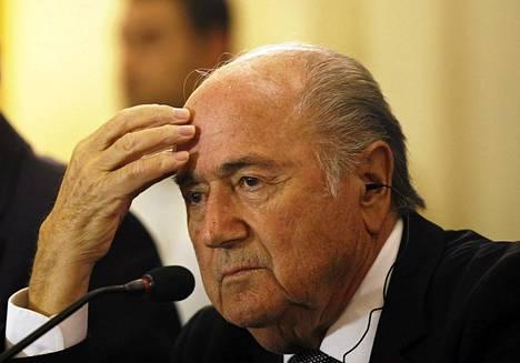 Kansainvälisen jalkapalloliiton puheenjohtaja Sepp Blatter