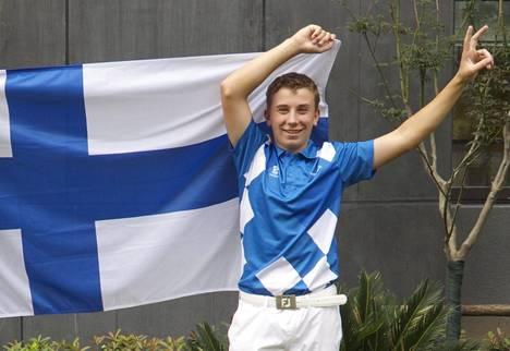 Oliver Lindell on jo vuosia ollut Suomen lupaavimpia junioripelaajia. Kuva vuodelta 2014.
