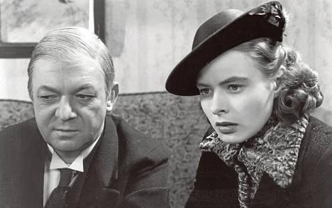 Naisen kasvoissa Ingrid Bergman esittää paatunutta rikollista. Erik Berglund on rikoskumppani.