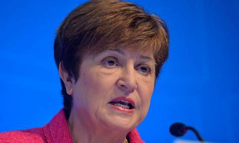 Kansainvälisen valuuttarahaston pääjohtaja Kristalina Georgiev järjestön kokouksessa vuonna 2019