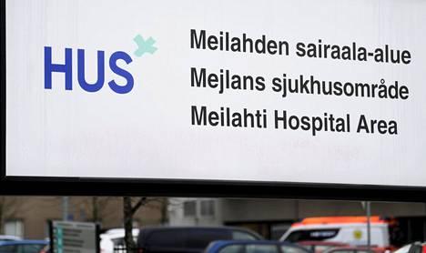Husin logo Meilahden sairaala-alueella Helsingissä.