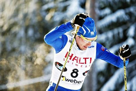 Kusti Kittilä sijoittui viidenneksi Suomen cupin yhdistelmäkisassa vajaat kaksi viikkoa sitten Vantaalla.