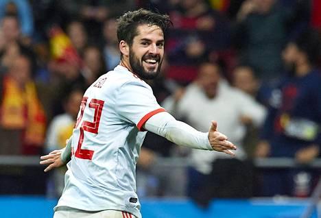 Espanja jyräsi Iscon johdolla Argentiinan 6–1.
