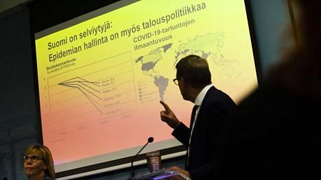 Valtiiovarainministeri Matti Vanhanen esitteli Suomen tulevaa budjettia keskiviikona.