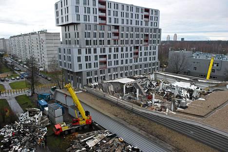 Maxima-supermarketin romahduksessa kuoli 54 ihmistä. Kuva on otettu 24. marraskuuta.