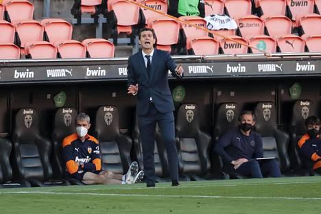 Javi Gracia sai maanantaina potkut Valencian päävalmentajan tehtävästä.