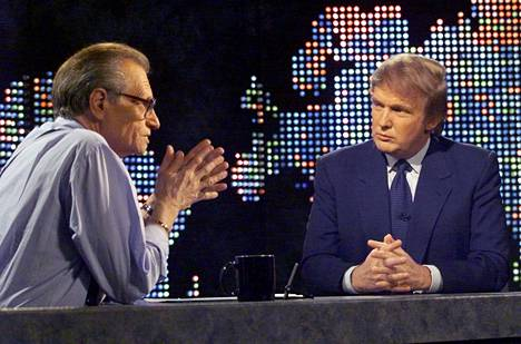Donald Trump was a guest on Larry King's talk show on CNN in October 1999. Trump was famous as a real estate investor at the time.