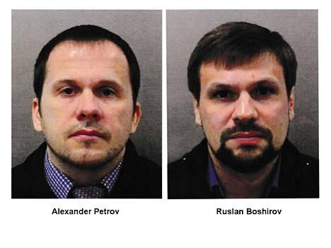 Myrkytyksestä epäillyt Aleksander Petrov (vas.) ja Ruslan Boširov.