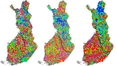 Kutakuinkin Pähkinäsaaren rauhan rajaa noudattava sauma jakaa maan eri vyöhykkeisiin.