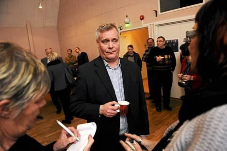 Antti Rinne aloitti puheenjohtajakampanjansa tiistaina Salossa.