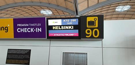 Lento Alicantesta Helsinkiin lähti keskiviikkona iltapäivällä.
