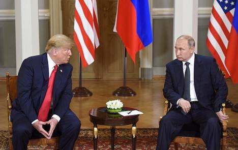 Yhdysvaltain presidentti Donald Trump ja Venäjän presidentti Vladimir Putin tapasivat Helsingissä maanantaina.