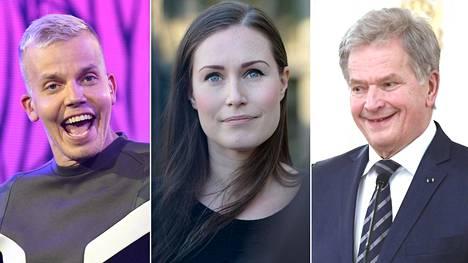 Lähetyksessa esiintyvät muun muassa muusikko Elastinen, pääministeri Sanna Marin sekä presidentti Sauli Niinistö.
