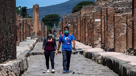 Pompeijin historiallisilla raunioilla oli tiistaina rauhallista.