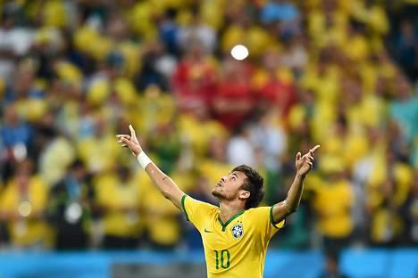 Neymar juhli Kroatian verkkoon tekemäänsä tasoitusmaalia.