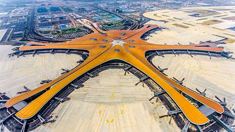 Peking Daxingin uuden kansainvälisen lentoaseman lähtöportit ovat terminaalin viidessä haarassa.