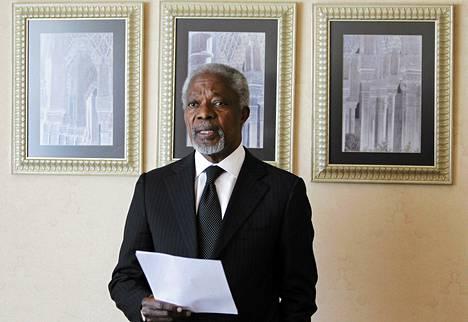 YK:n erityislähettiläs Kofi Annan oli toiveikas Syyrian-vierailunsa jälkeen.