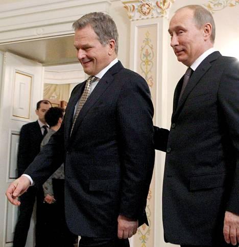 Sauli Niinistö tapasi Vladimir Putinin tämän virka-asunnolla helmikuussa 2013.