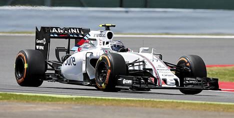 Valtteri Bottas ylsi Silverstonen aika-ajossa neljänneksi.