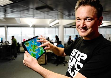 Supercellin toimitusjohtaja Ilkka Paananen esitteli yhtiön uutta Boom Beach -peliä viime helmikuussa.