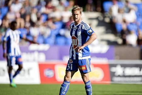 Akseli Pelvas ja HJK joutuivat pettymään Walesissa.