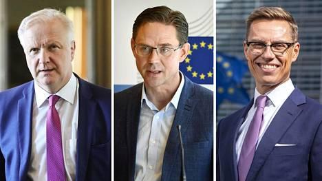 Olli Rehn (vas.), Jyrki Katainen ja Alexander Stubb