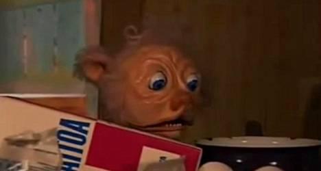 Morso on Pikko kakkosessa vuosituhannen vaihteessa lapsia pelottanut hahmo. Kuvankaappaus Youtubessa.