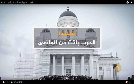 """""""Suomi – sota jäi historiaan"""", otsikoi arabiankielinen Al-Jazeera yhden Suomi-viikkonsa reportaaseista."""