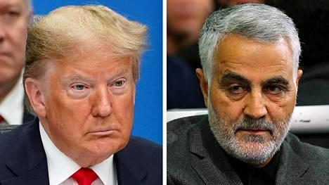 Donald Trump ja Qassim Suleimani.