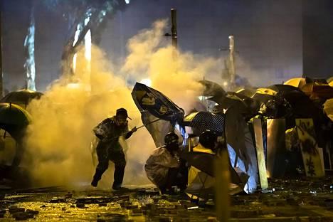 Mielenosoitukset ovat jatkuneet viime keväästä asti. Kuva on marraskuulta 2019.