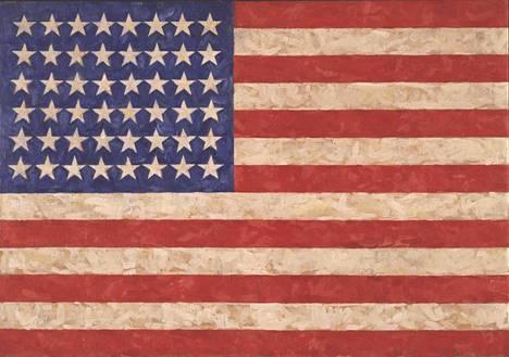 Jasper Johns: Lippu (1958).