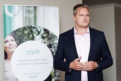 Oma Säästöpankin toimitusjohtaja Pasi Sydänlammi.