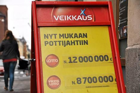 Seitsemän oikein -tuloksella voitti sunnuntaina kuusi miljoonaa euroa.