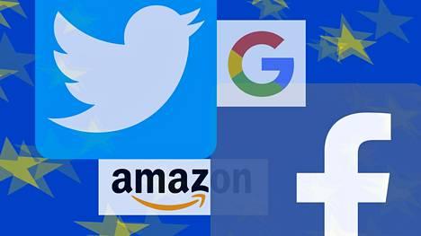 EU:n toimet koskevat erilaisia suuria digiyhtiöitä sosiaalisen median kanavista kauppapaikkoihin.