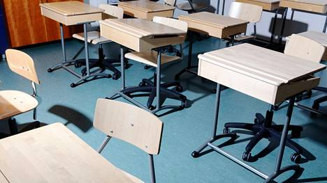 Luokkahuone espoolaiskoulussa.