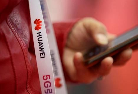 Huawei oli esillä 5g-aiheisilla messuilla Pekingissä marraskuussa.