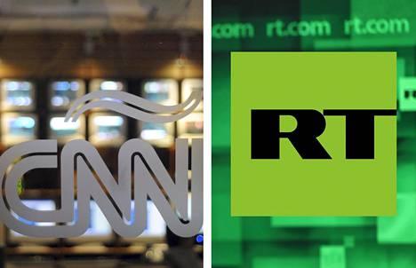 """Yhdysvallat ilmoitti jo aiemmin syksyllä, että edellyttää Venäjän valtion omistaman uutiskanava RT:n rekisteröityvän vieraan valtion """"agenttirekisteriin"""". Nyt Venäjä kaavailee samaa kohtaloa oletettavasti esimerkiksi yhdysvaltalaiskanava CNN:lle."""
