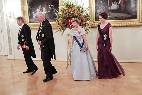 Syyskuussa 2016 presidenttipari isännöi Presidentinlinnassa Norjan kuningas Harald V:tä ja kuningatar Sonjaa.