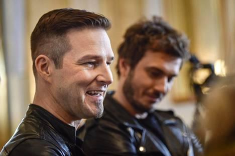 Darude eli Ville Virtanen (vas.) ja Sebastian Rejman edustavat Suomea kevään Euroviisuissa.