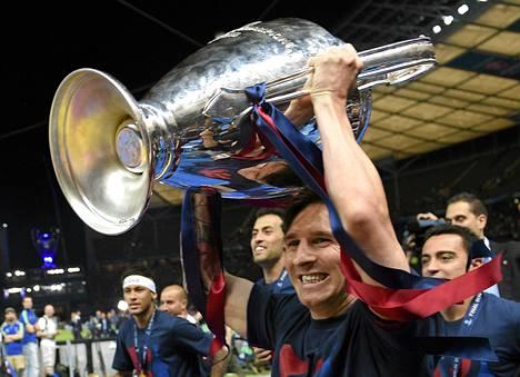 Lionel Messi voitti Barcelonan kanssa tällä kaudella Mestarien liigan, Espanjan liigan ja Espanjan cupin.