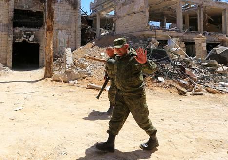 Syyriassa on joukkoja monista maista, myös Venäjältä.